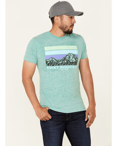 National Park Foundation Men's Rocky Mountain Bar Graphic Short Sleeve T-Shirt - Big, Teal, hi-res
