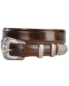 Lucchese Men's Brown Goat Leather Belt, Tan, hi-res