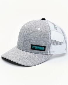Rock & Roll Denim Men's Grey & White Corner Logo Patch Mesh-Back Ball Cap , Grey, hi-res