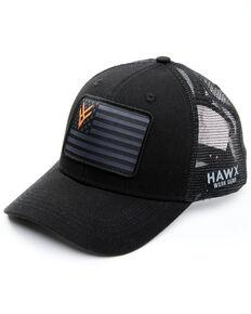 Hawx Men's Black Flag Patch Mesh-Back Ball Cap , Black, hi-res