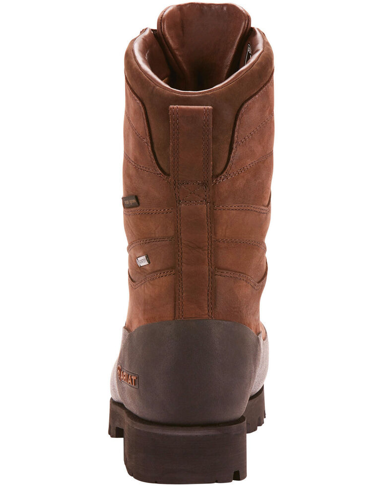 "Ariat Men's Linesman Ridge 10"" EH Insulated Work Boots - Round Composite Toe, Medium Brown, hi-res"