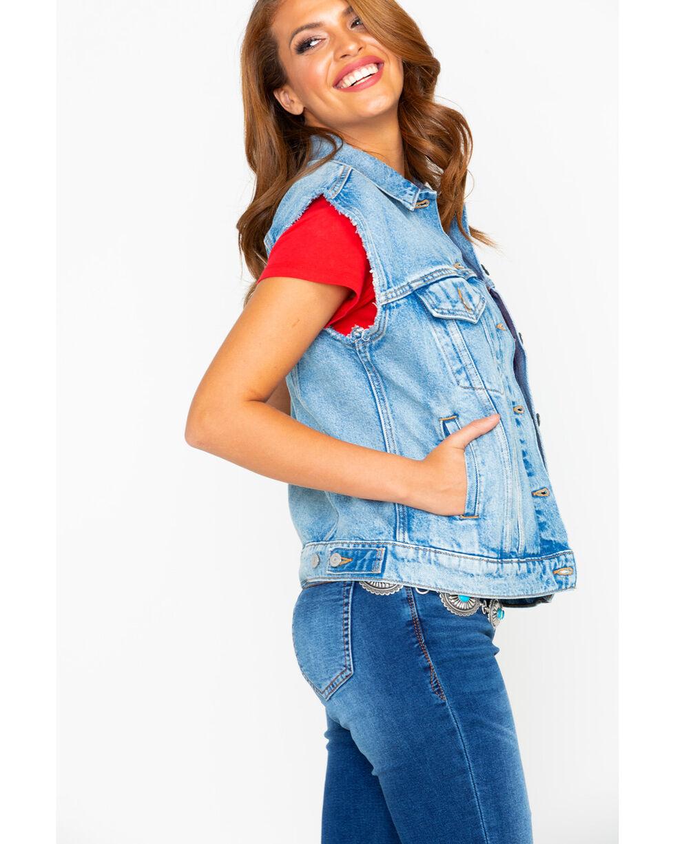 Levis Women's Free Spirited Light Denim Vest , Blue, hi-res