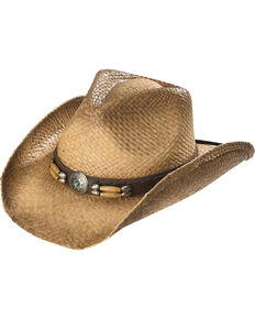 Cody James Contraband Straw Cowboy Hat, Brown, hi-res