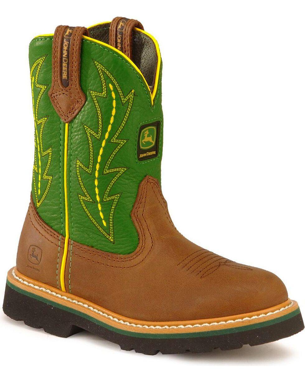 John Deere Children's Johnny Poppers Boots, Green, hi-res