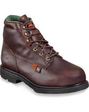 "Thorogood Men's 6"" I-MET2 Work Boots - Steel Toe, Dark Brown, hi-res"