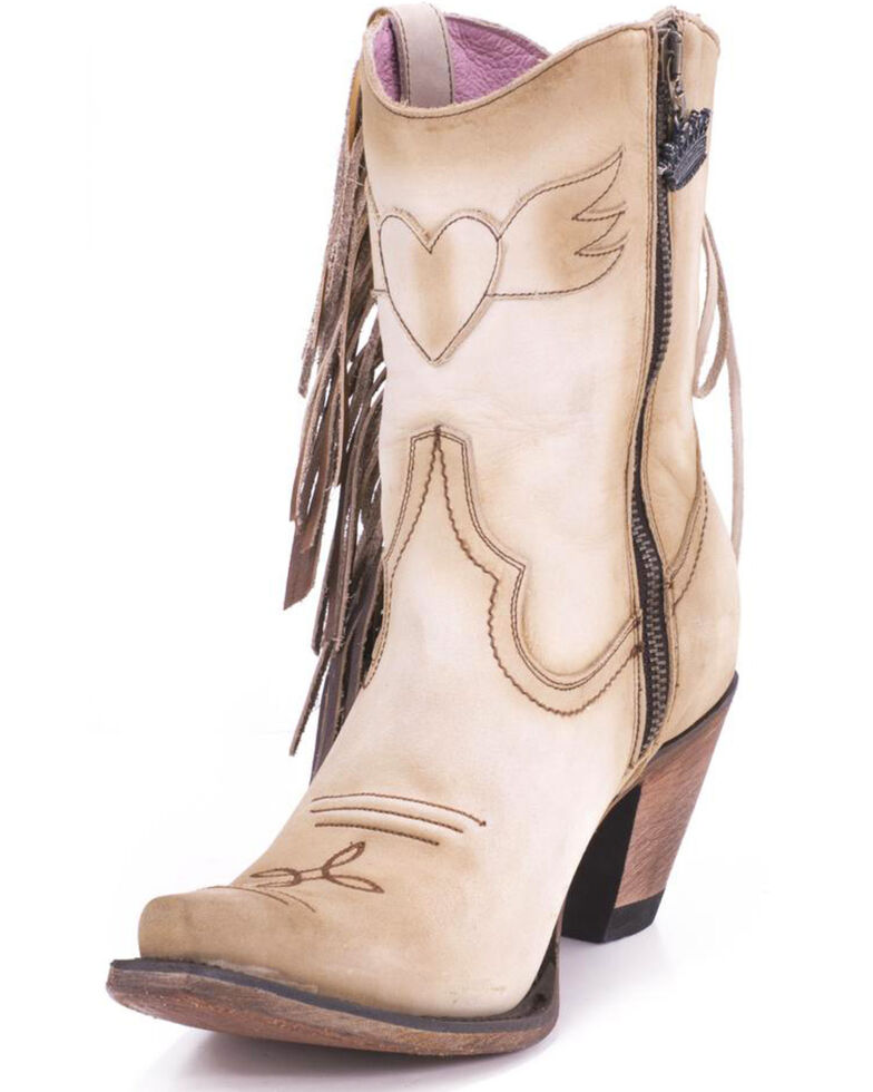 Junk Gypsy by Lane Cream Spirit Animal Boots - Snip Toe , Cream, hi-res