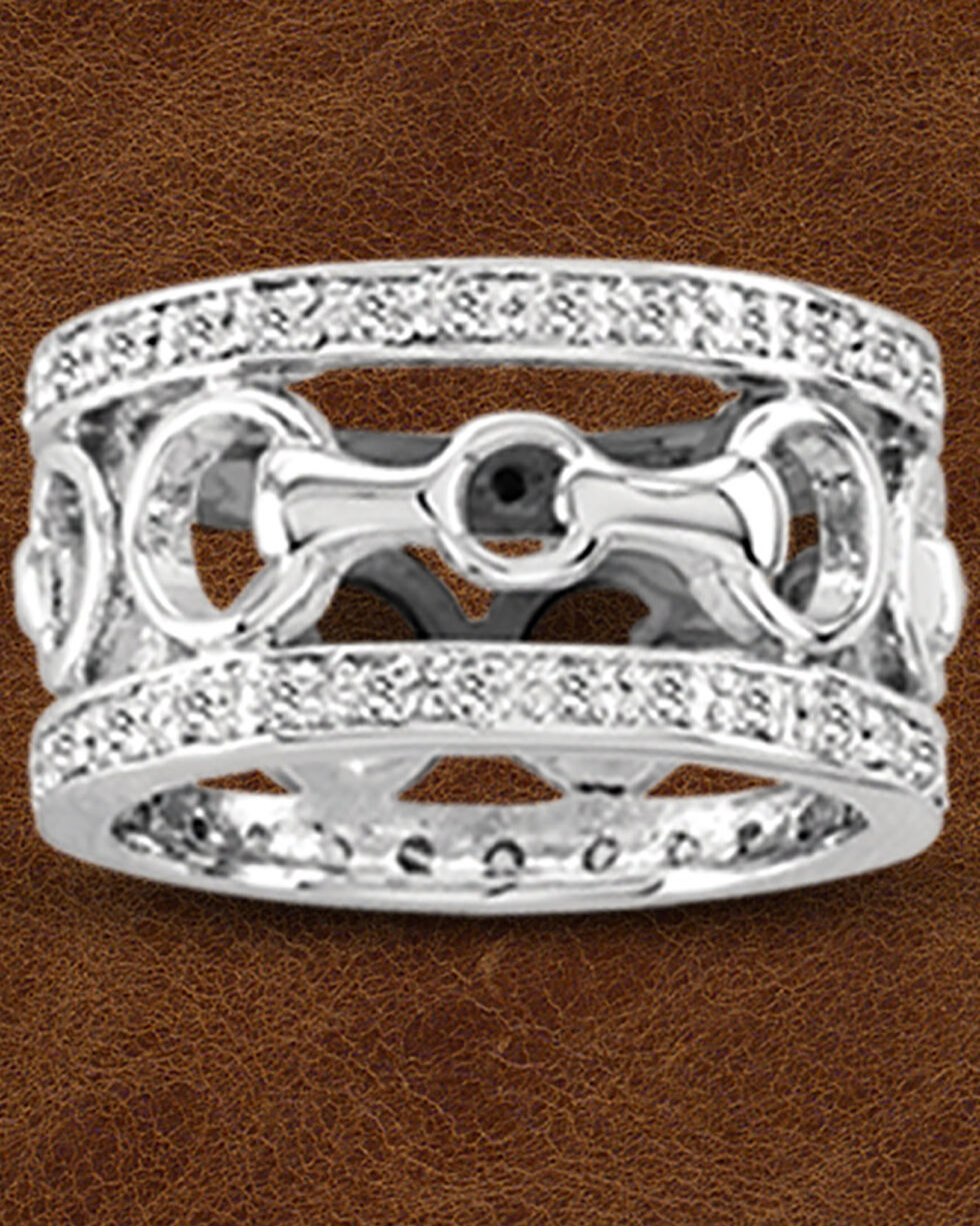 Kelly Herd Sterling Silver Wide Band Bit Ring, Silver, hi-res