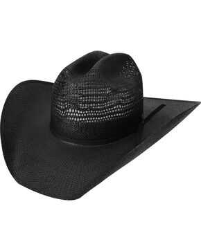 Bailey Desert Knight Black Straw Western Hat, Black, hi-res