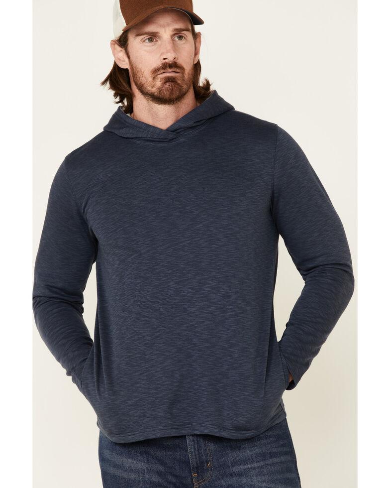North River Men's Solid Modal Hooded Sweatshirt , Blue, hi-res