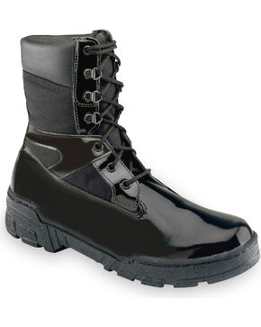 "Thorogood Men's Uniform Classics 8"" Commando Plus Boots, Black, hi-res"