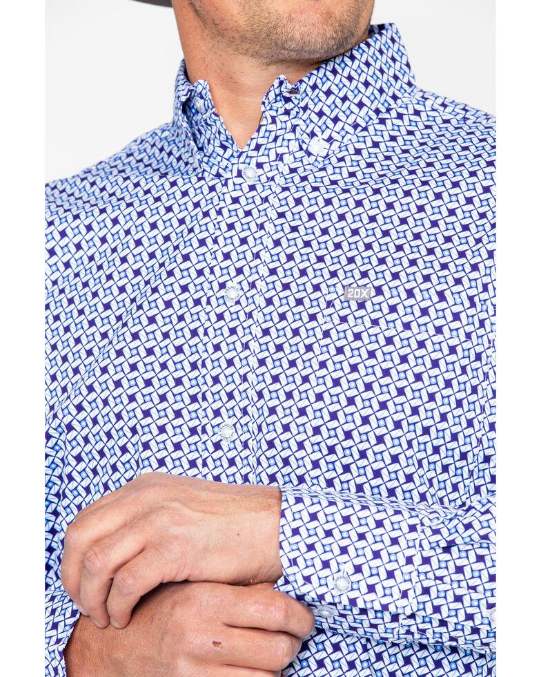 Wrangler 20X Men's Purple Performance Long Sleeve Western Shirt, Periwinkle, hi-res