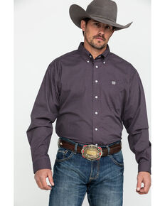 Cinch Men's Multi Tencel Geo Print Long Sleeve Western Shirt , Multi, hi-res