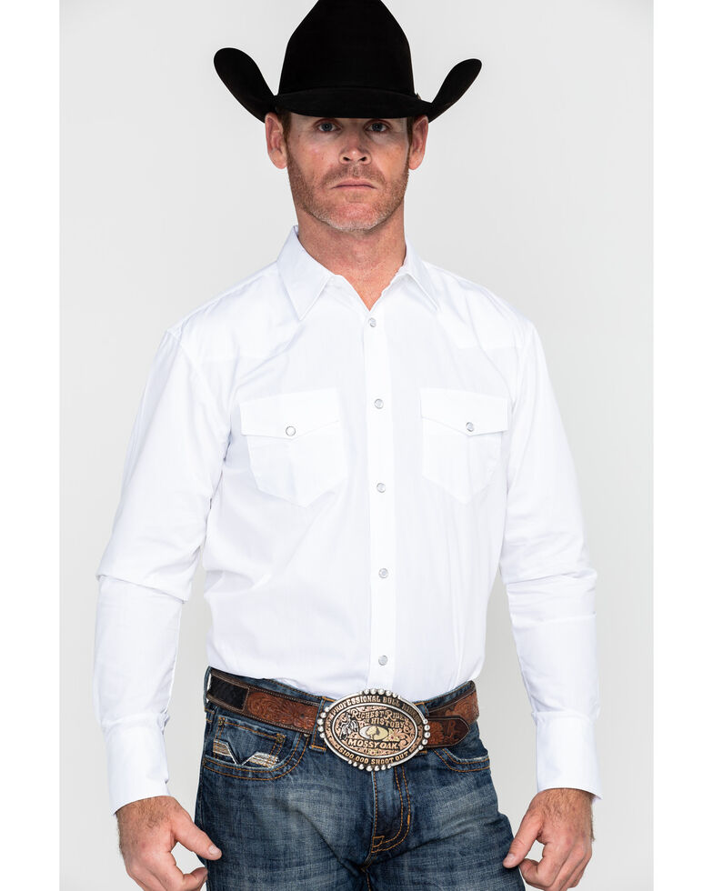 Gibson Trading Co. Men's White Water Solid Long Sleeve Shirt - Big  , White, hi-res