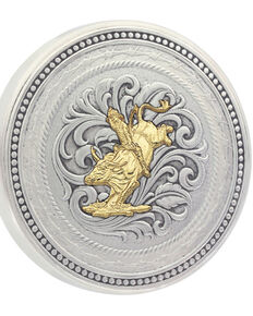 Montana Silversmiths New Traditions Stars and Barbed Wire Bullrider Snuff Lid, Multi, hi-res