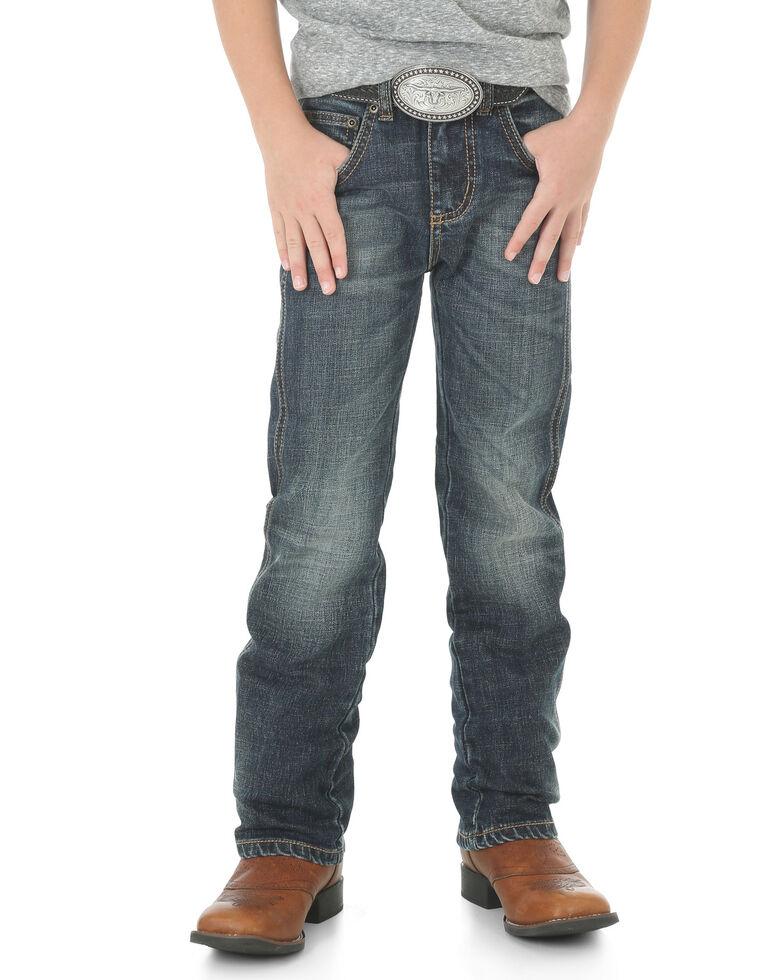 Wrangler Retro Boys' 1-7 Low Slim Straight Jeans, Indigo, hi-res