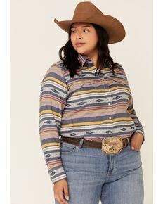 Ariat Women's R.E.A.L. Sunset Beauty Long Sleeve Western Shirt - Plus, Multi, hi-res