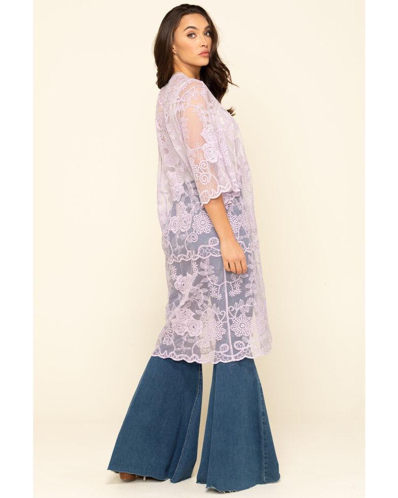 Shyanne Women's Lace Duster Kimono, , hi-res