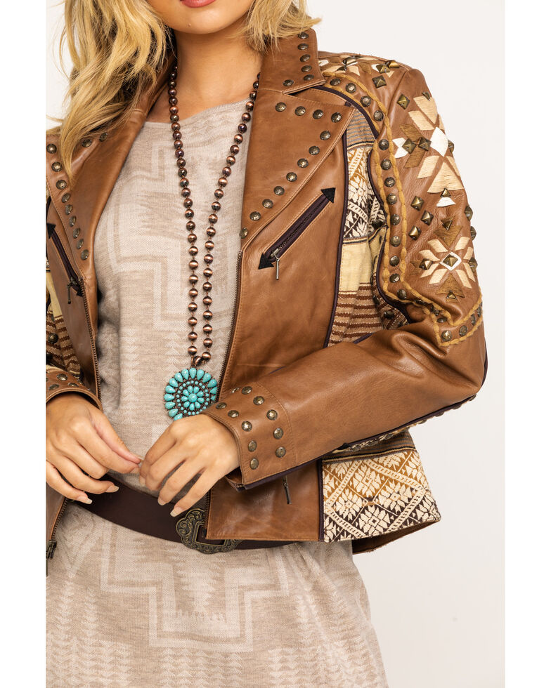 Double D Ranch Women's Brown Tobiano Jacket, Brown, hi-res
