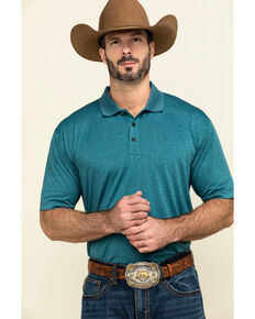 Cody James Core Men's Blue Tonal Short Sleeve Polo Shirt , Blue, hi-res