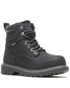 Wolverine Women's Floorhand Waterproof Work Boots - Steel Toe, Black, hi-res