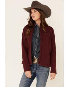 Shyanne Life Women's Burgundy Logo Sleeve Softshell Bonded Jacket , Burgundy, hi-res