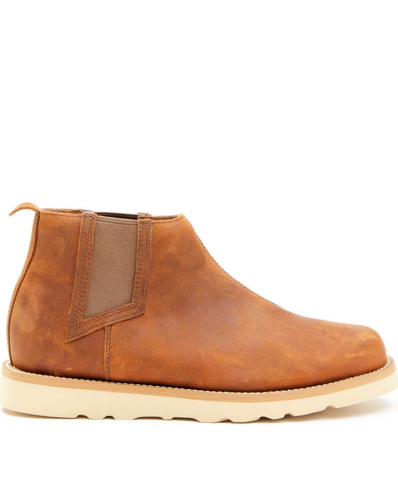 Wrangler Footwear Men's Chelsea Wedge Work Boots - Soft Toe, Brown, hi-res