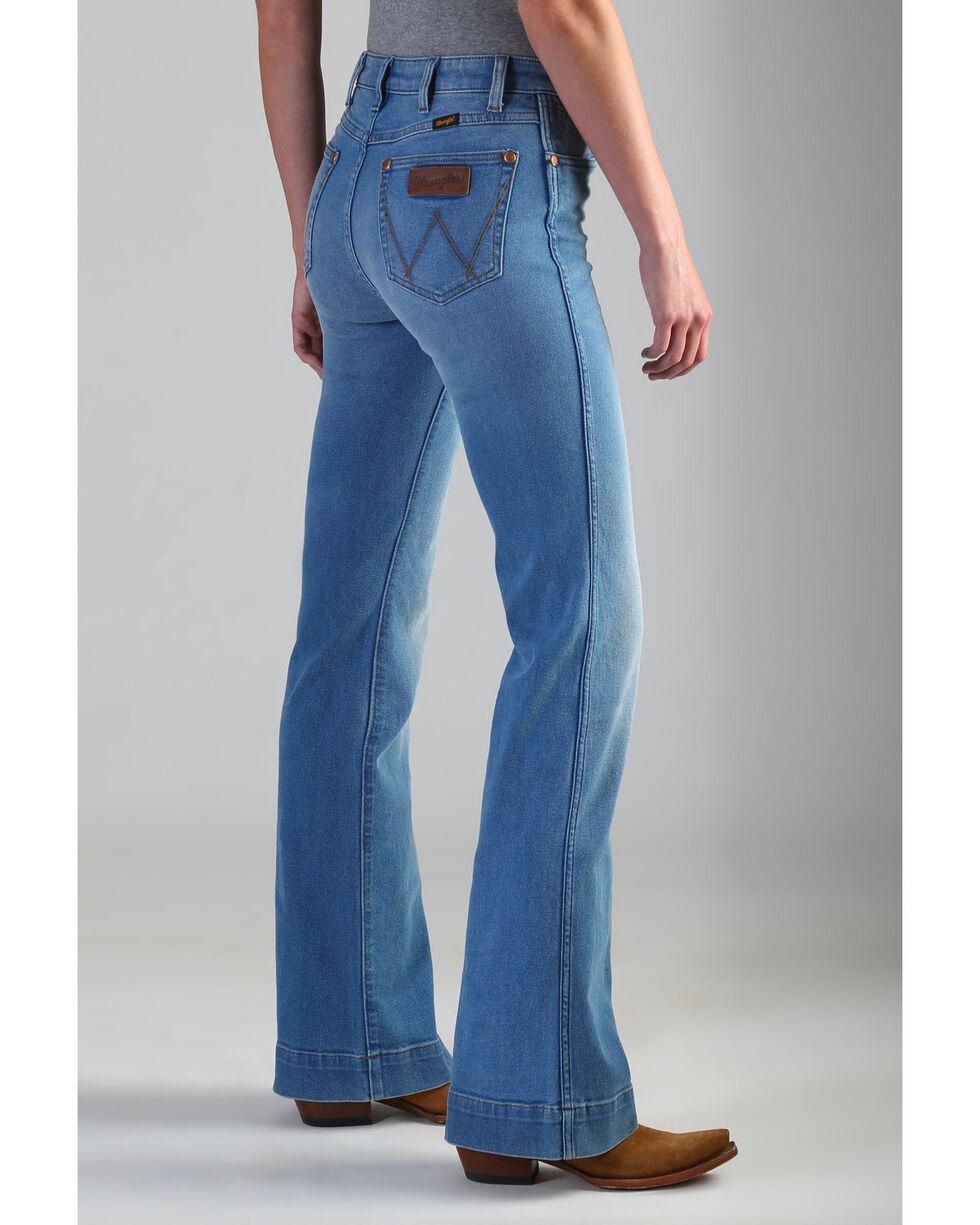 Wrangler Retro Women's High Rise Vintage Trouser Jeans , Blue, hi-res