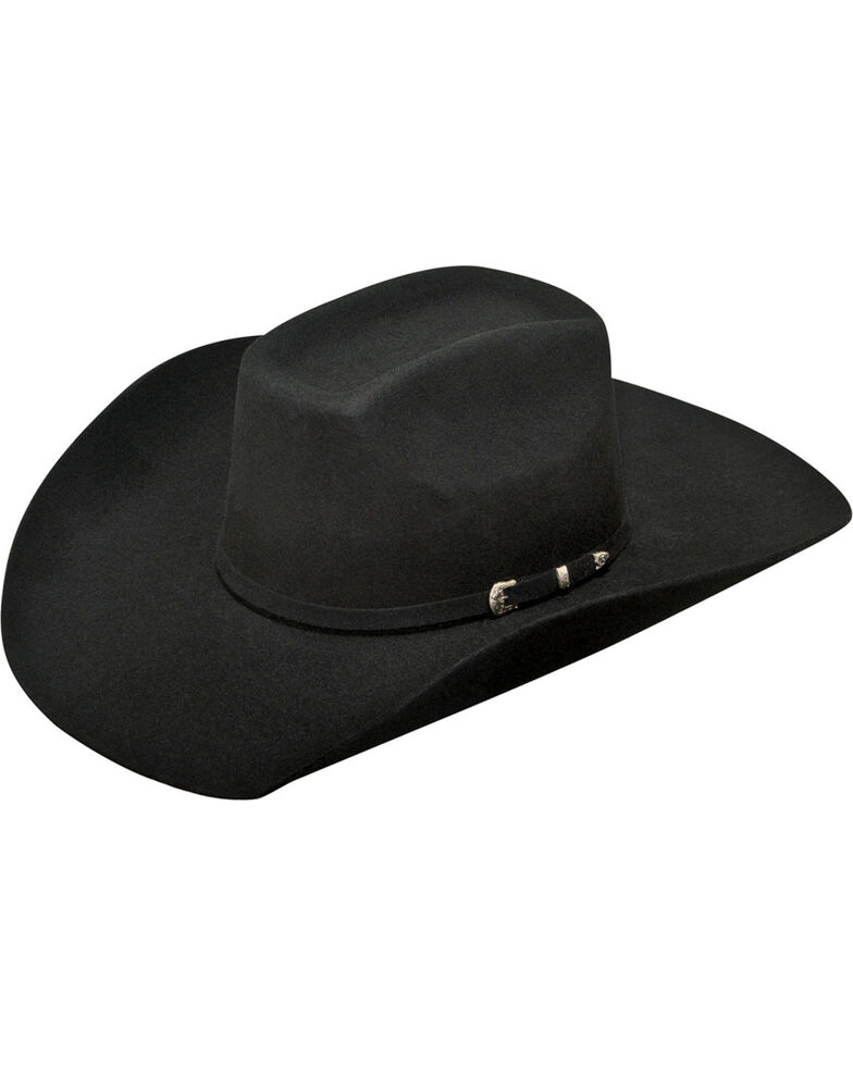 Ariat Men's Added Money 2X Wool Felt Cowboy Hat , Black, hi-res