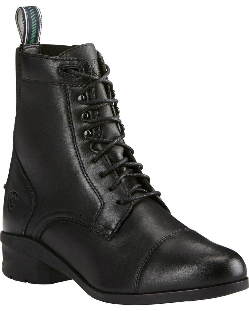 Ariat Women's Black Heritage IV Paddock Boots - Round Toe , Black, hi-res