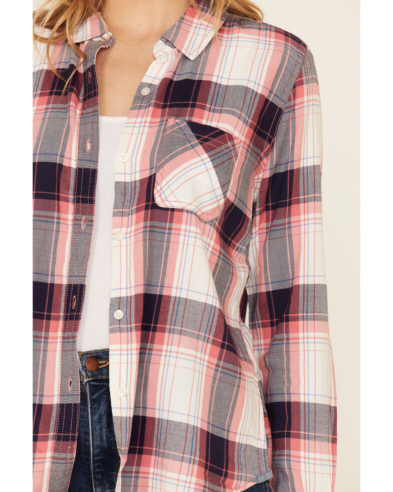 Flag & Anthem Women's Sandyfield Popover Plaid Long Sleeve Button-Down Western Core Shirt , Red/white/blue, hi-res