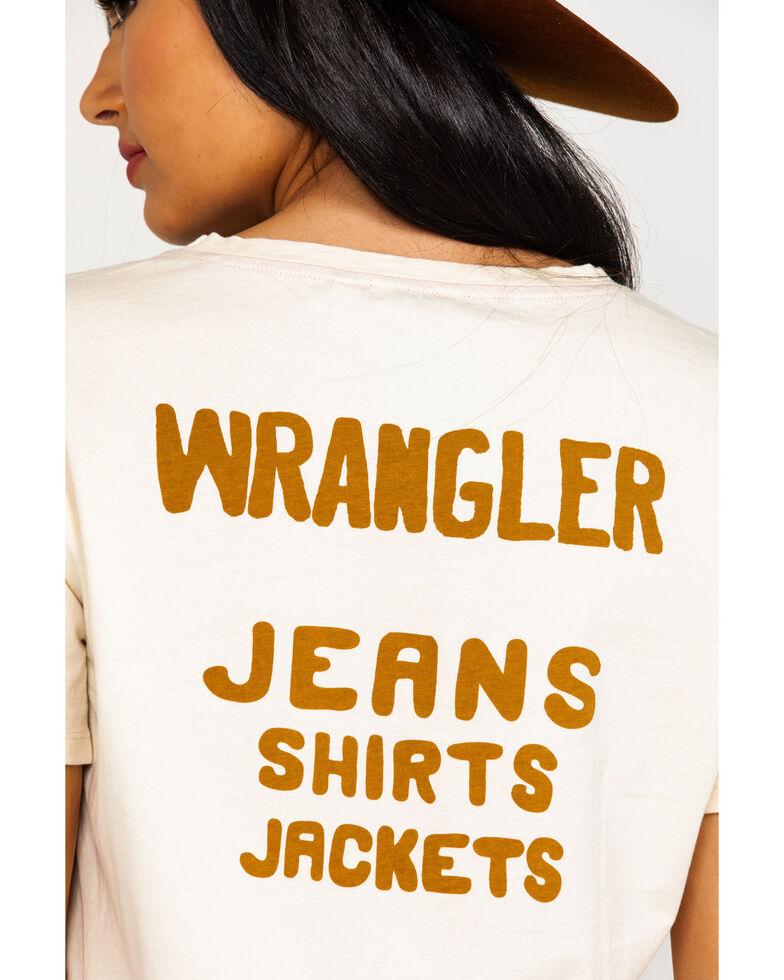 Wrangler Women's Modern Cropped Back Logo Tee , , hi-res
