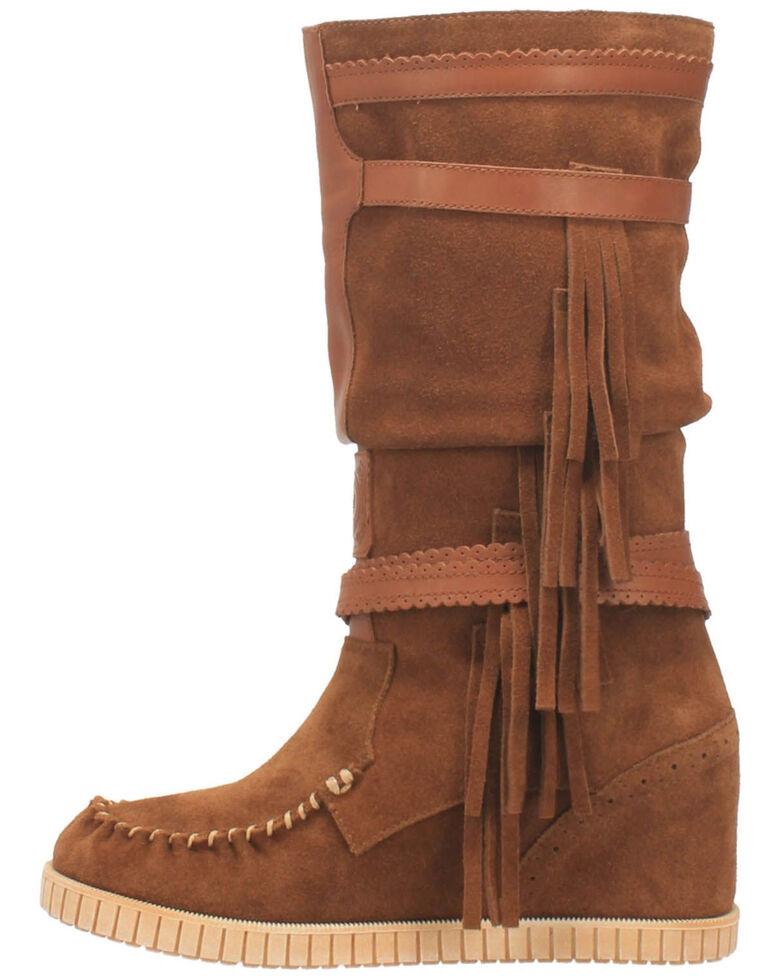Dingo Women's Catabwa Western Boots - Moc Toe, Tan, hi-res