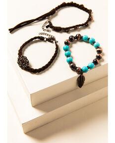 Shyanne Women's Willow Moon Leather Beaded Bracelet Set, Rust Copper, hi-res