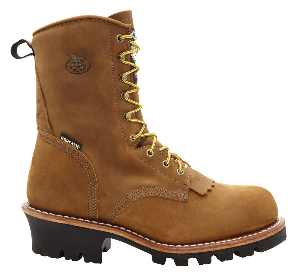 Georgia Insulated Gore-Tex Waterproof Logger Work Boots - Steel Toe, Saddle Tan, hi-res