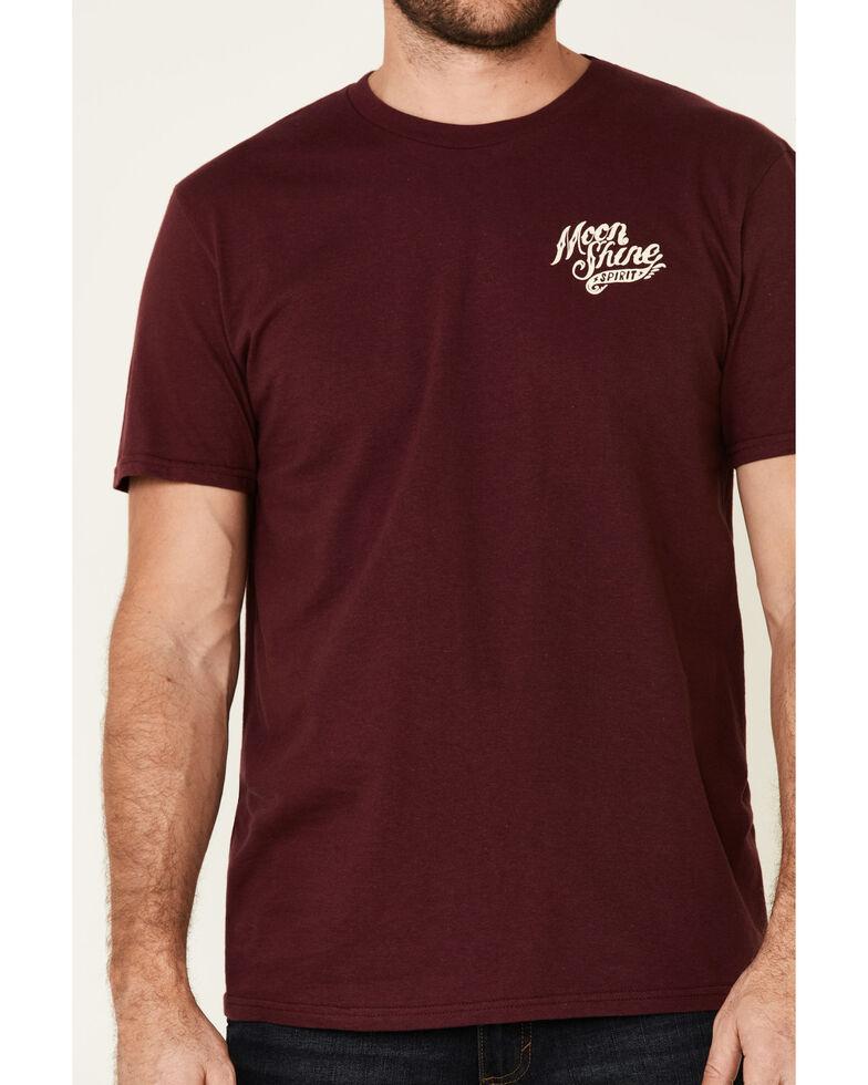 Moonshine Spirit Men's Whiskey & Country Music Graphic Short Sleeve T-Shirt , Maroon, hi-res