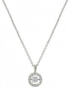 Montana Silversmiths Women's Dancing Circle Necklace , Silver, hi-res