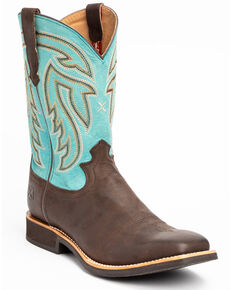 Twisted X Women's Chocolate Rancher Western Boots - Wide Square Toe, Chocolate, hi-res