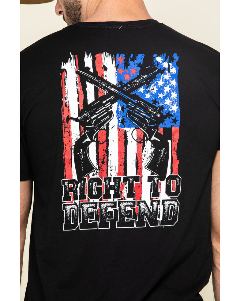 Cody James Men's Right To Defend Graphic Short Sleeve T-Shirt , Black, hi-res
