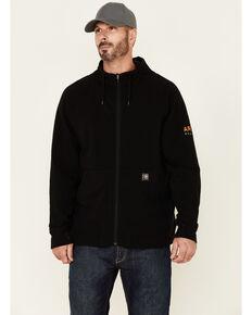 Ariat Men's Black Rebar Thermic Insulated Zip-Front Hooded Work Sweatshirt , Black, hi-res