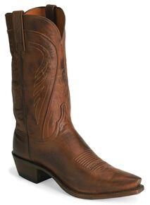 Lucchese Handmade 1883 Bart Ranch Hand Cowboy Boots - Snip Toe, Tan, hi-res