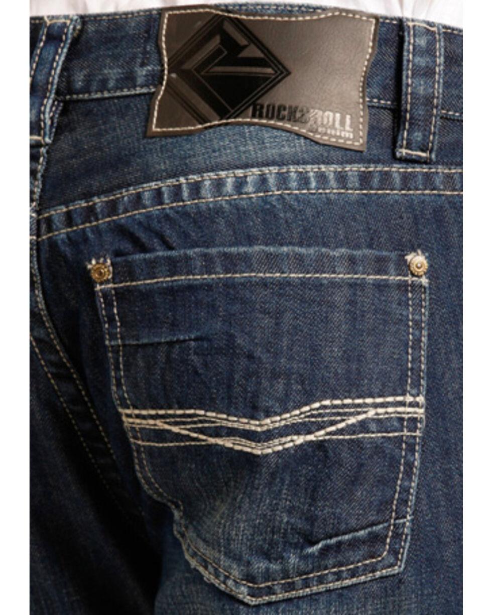 Rock & Roll Cowboy Men's Pistol Small V Stitching Jeans - Straight Leg, Indigo, hi-res