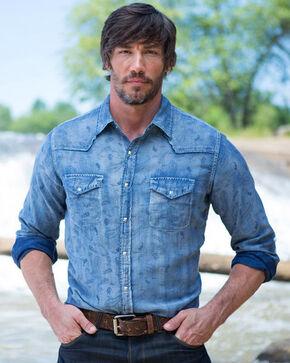 Ryan Michael Men's Malibu Jacquard Shirt, Indigo, hi-res