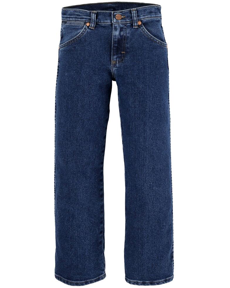 Wrangler Boys' 8-16 Stonewash Active Flex Slim Cowboy Cut Jeans , Blue, hi-res