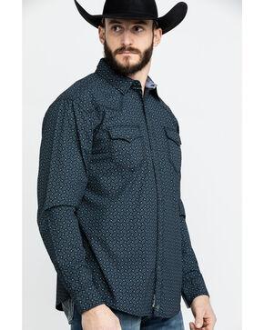 Moonshine Spirit Men's Sound City Floral Print Long Sleeve Western Shirt , Black, hi-res