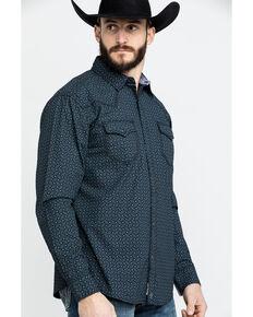 Moonshine Spirit Men's Sound City Geo Print Long Sleeve Western Shirt , Black, hi-res