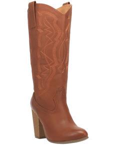 Code West Women's Kiki Western Boots - Round Toe, Cognac, hi-res