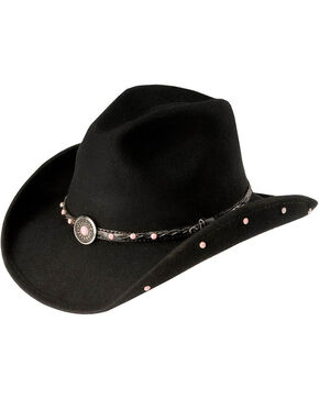 Bullhide Girls' Black Baby Jane Cowgirl Hat , Black, hi-res