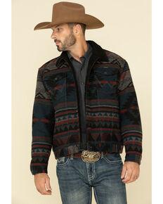 Wrangler Men's Black Aztec Jacquard Printed Lined Trucker Jacket , Black, hi-res