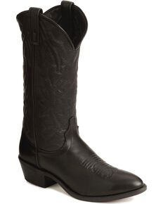 Laredo Men's Jacksonville Deertan Cowboy Boots - Medium Toe, Black, hi-res