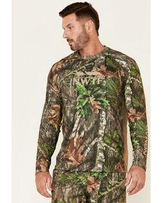 Nomad Men's Shadowleaf Mossy Oak Camo Print Pursuit Long Sleeve Hunting Shirt , Camouflage, hi-res